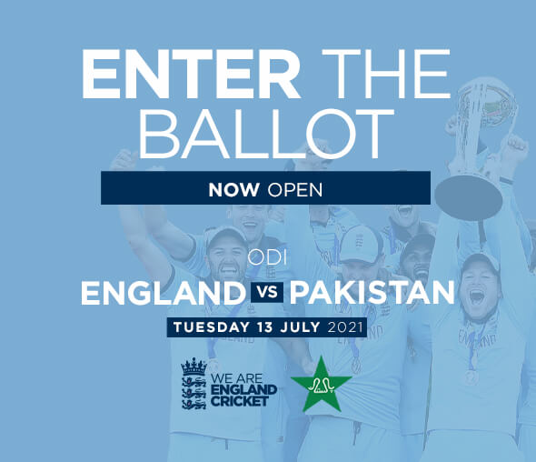 England v Pakistan ODI - Enter the Ballot
