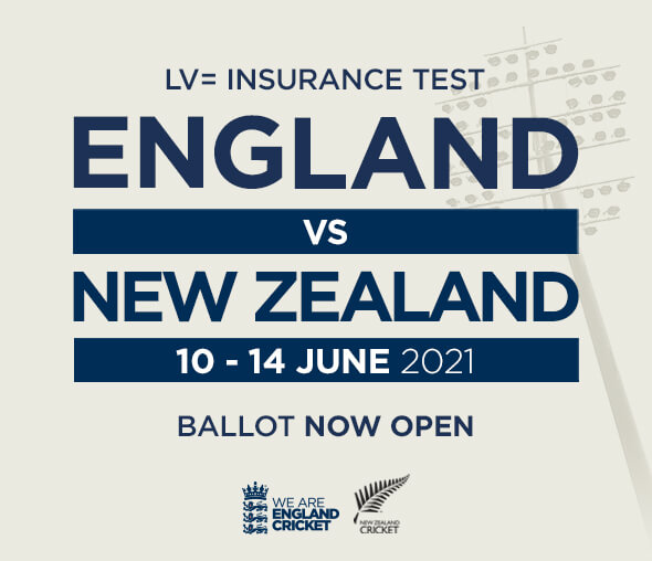 England v New Zealand Test